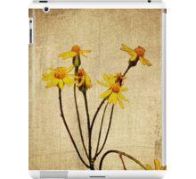 Golden Ragwort - Textured iPad Case/Skin