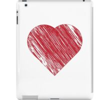Hand drawn red heart 3 iPad Case/Skin