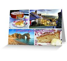 Greetings from Dorset Greeting Card
