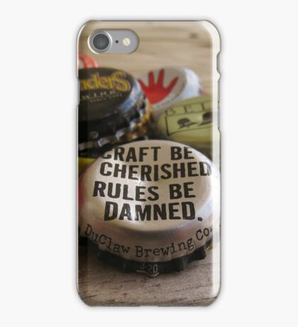 Craft Beer Bottle Caps iPhone Case/Skin