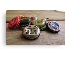 Craft Beer Bottle Caps Canvas Print