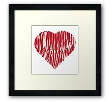Hand drawn red heart 4 Framed Print