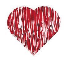 Hand drawn red heart 4 Photographic Print