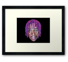 Wiz Khalifa Purp Lowpoly Framed Print