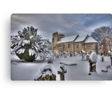 St Cuthbert's in the Snow Canvas Print