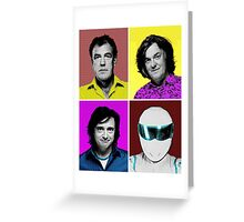 Top Gear Inspired Pop Art, All Personalities in One Greeting Card