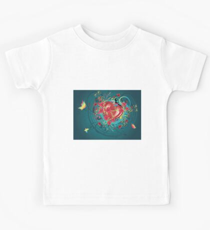 Hearts and Roses 2 Kids Tee