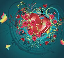 Hearts and Roses 2 by AnnArtshock