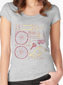 Bicycle Parts Women's Fitted Scoop T-Shirt