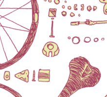 Bicycle Parts Sticker