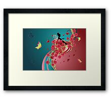 Hearts and Roses 3 Framed Print