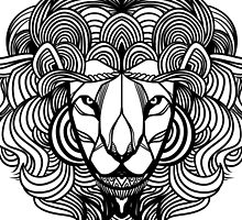 Zen Lion Black by exeivier