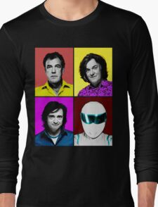 Top Gear Inspired Pop Art, All Personalities in One Long Sleeve T-Shirt