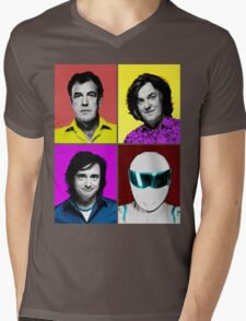 Top Gear Inspired Pop Art, All Personalities in One Mens V-Neck T-Shirt