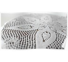 flower on lace doily Poster