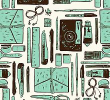 Artist's tools of trade by exeivier