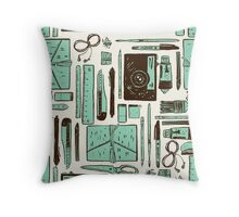 Artist's tools of trade Throw Pillow