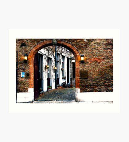 Brugge Beckons Art Print