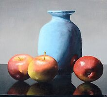 Apples and vase still life by Steve Driver