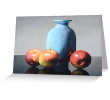 Apples and vase still life Greeting Card