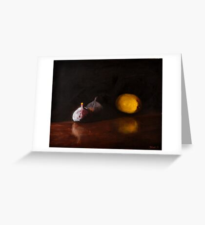 Lemon and Figs Still Life Greeting Card