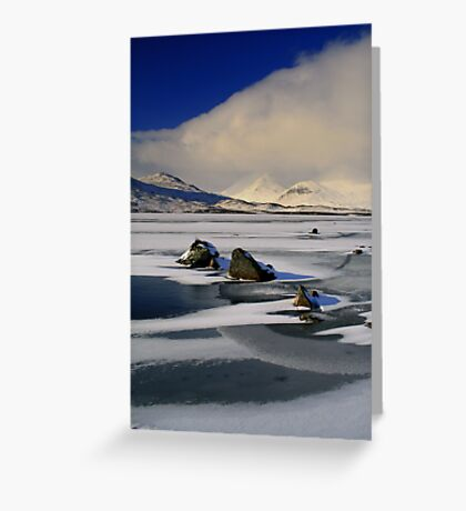 Blackmount Snowstorm Greeting Card