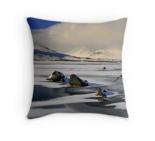 Blackmount Snowstorm Throw Pillow