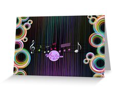 MoonDreams Music Abstract Color   Greeting Card