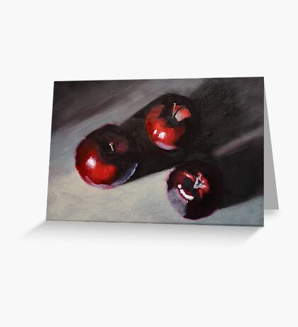 Red Apples Still Life Greeting Card