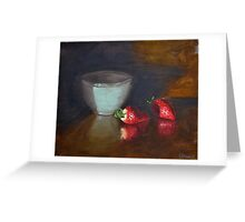 Strawberries and Bowl Still Life Greeting Card