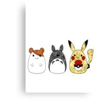 Totoro friends Canvas Print