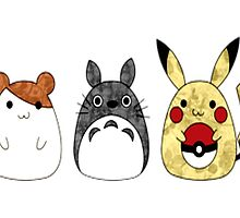 Totoro friends by supercoolman