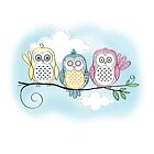 Owl trio by sallyally