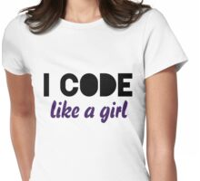 I code like a girl Womens Fitted T-Shirt