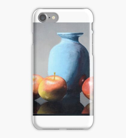 Apples and vase still life iPhone Case/Skin