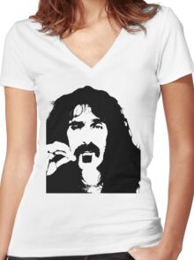 Frank Zappa T-Shirt Women's Fitted V-Neck T-Shirt