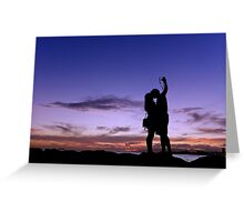 Picture a perfect kiss Greeting Card