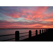 Sunset over Charleston Harbor Photographic Print