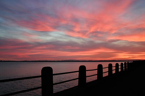 Sunset over Charleston Harbor by Patricia Montgomery