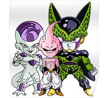 Frieza, Kid Buu & Cell (Chibi's) Poster