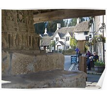 Market Cross, Castle Combe Poster