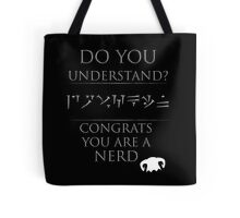 Skyrim - Dragon Language Tote Bag