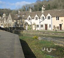 Water Lane, Castle Combe by Sandra Mangnall