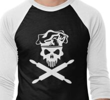Baker Skull and Crossed Rolling Pins Men's Baseball ¾ T-Shirt