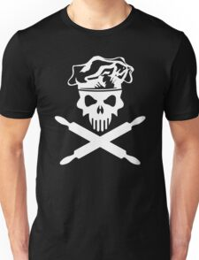 Baker Skull and Crossed Rolling Pins Unisex T-Shirt