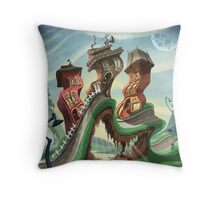 Crazy City 4 Throw Pillow