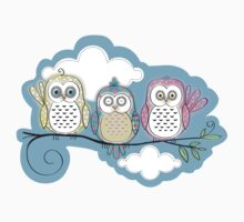 Owls trio by sallyally