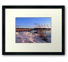 Taku..a winter's dawn Framed Print