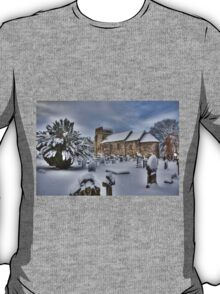 St Cuthbert's in the Snow T-Shirt