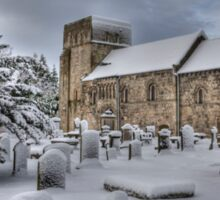 St Cuthbert's in the Snow Sticker